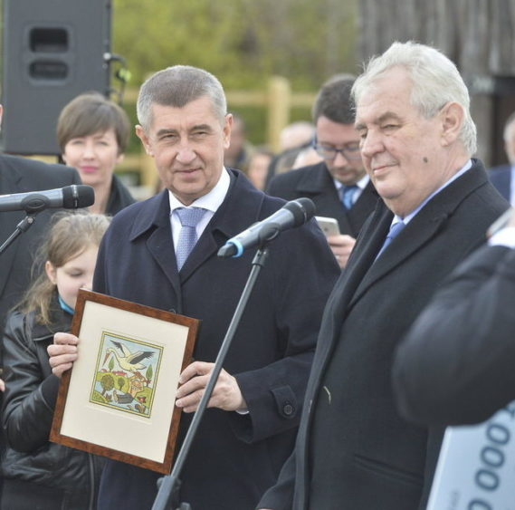 Andrej Babis and MIlos Zeman at Capi Hnzido