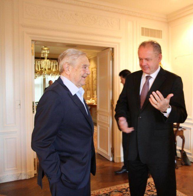George Soros Andrej Kiska