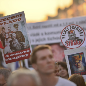 Czechs protest Appointment of andrej babis to prime minister by president milos zeman