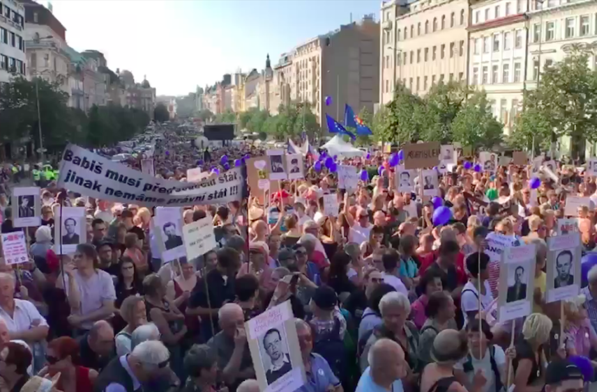 Thousands protested against PM Babis, Communists in Czech cities