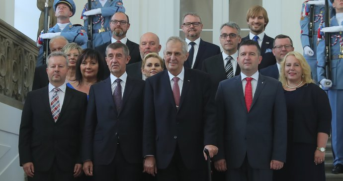 Babis's 2nd cabinet zeman-babis-hamacek-vlada-jmenovani-dostalova-vojtech-schillerova-metnar-novakova-mala-krcal-tok-plaga-toman-brabec-stanek