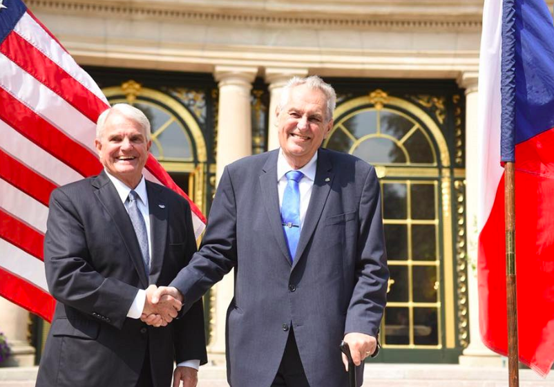 Czech President Milos Zeman met U.S. Ambassador Stephen King