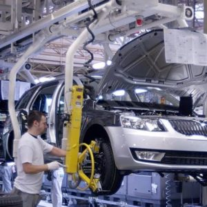 Skoda Auto production line