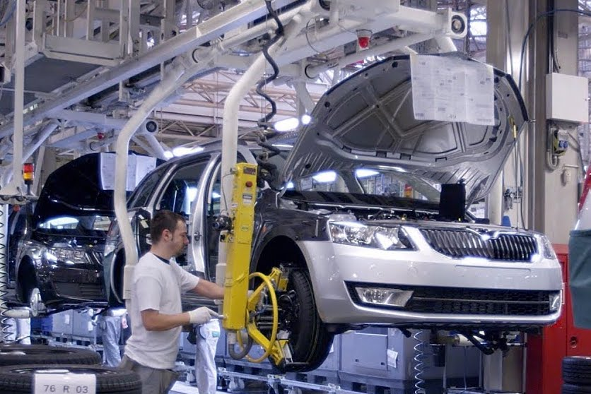 Skoda Auto production line